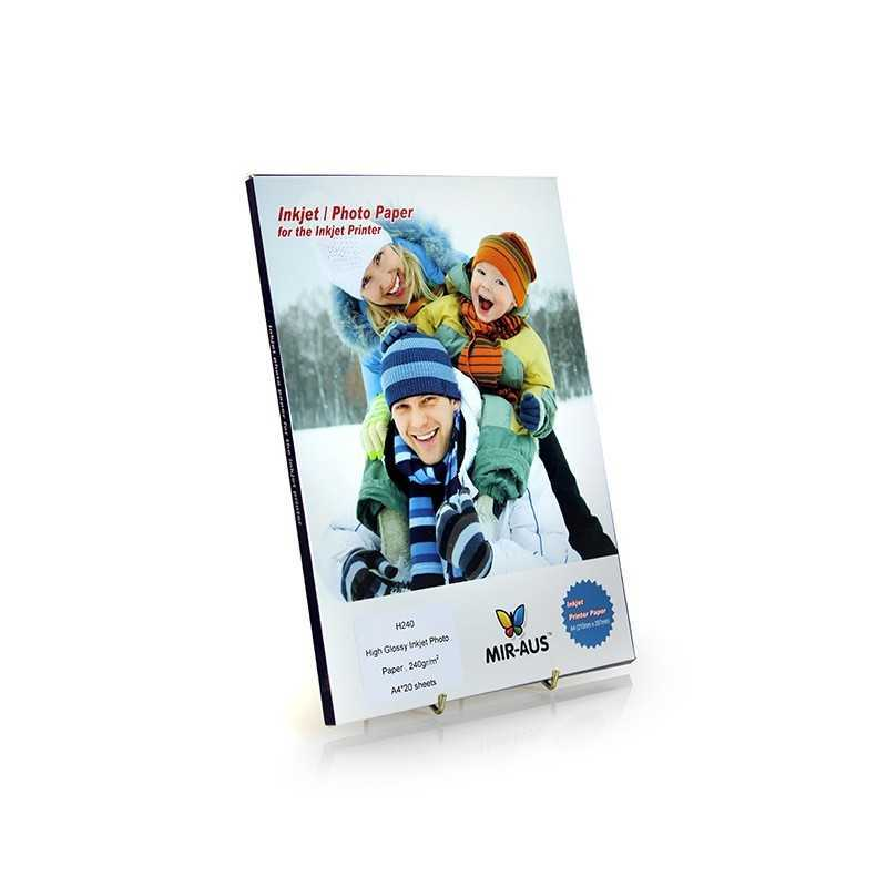 A4 240 G alto brilhante Inkjet papel fotográfico Premium