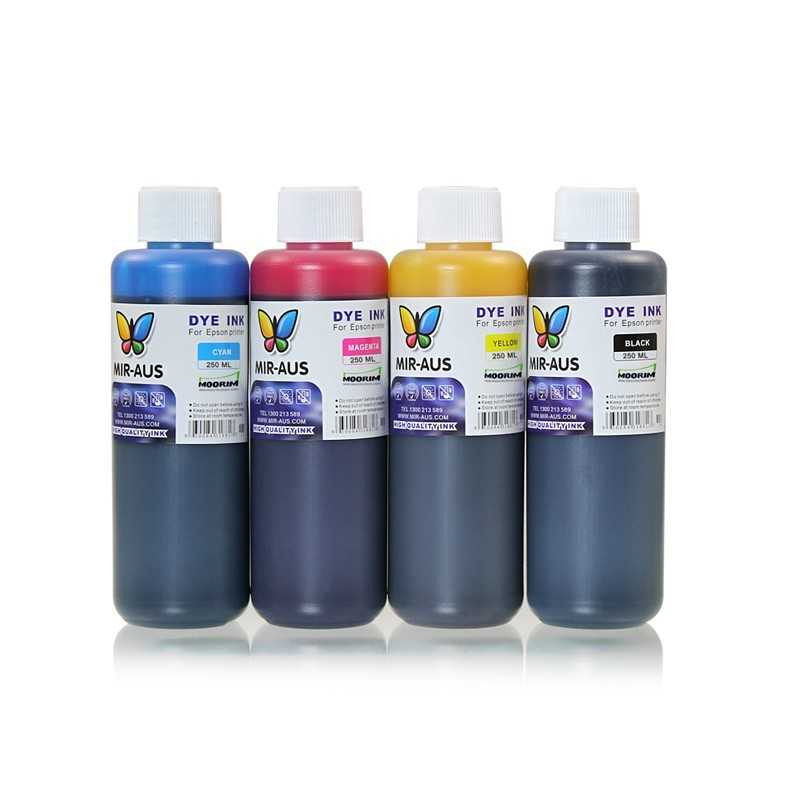 refillable Dye ink 4x250ml for epson printers