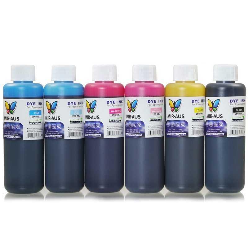 refillable Dye ink 6x250ml for epson printers