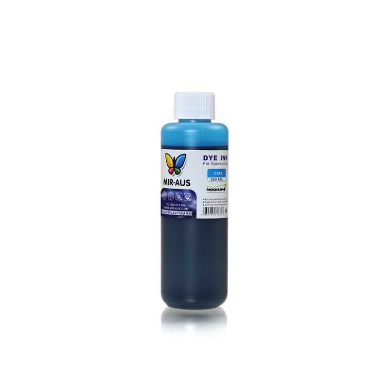 Cyan refillable dye ink 250ml for Epson printers