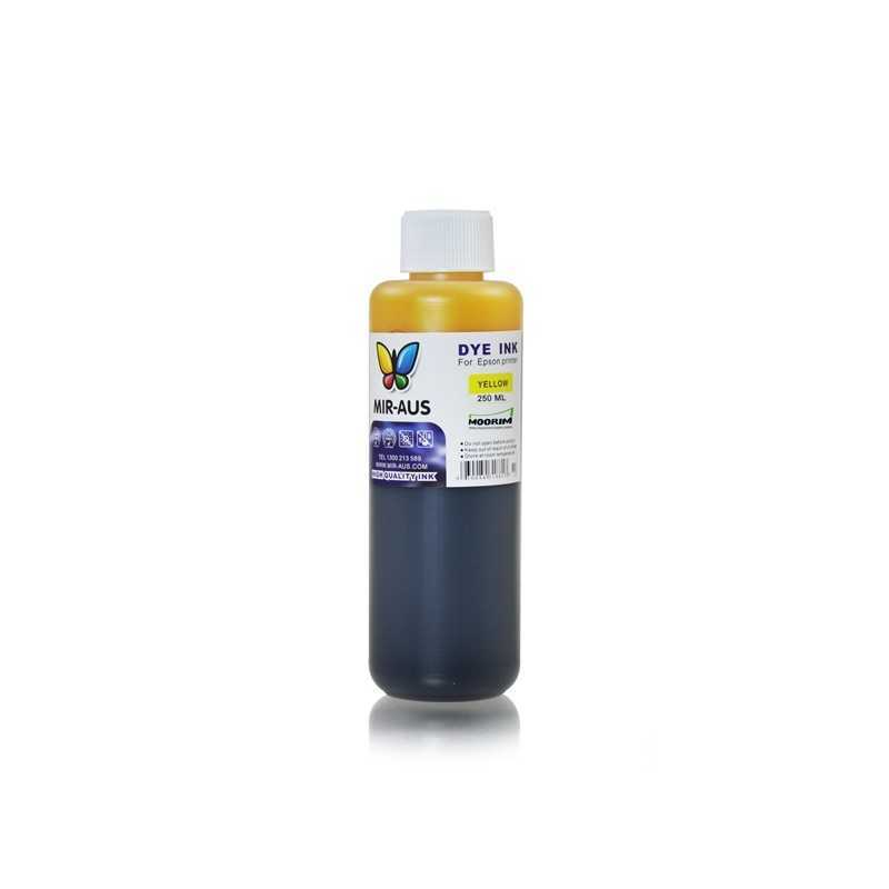 Yellow refillable dye ink 250ml for Epson printers