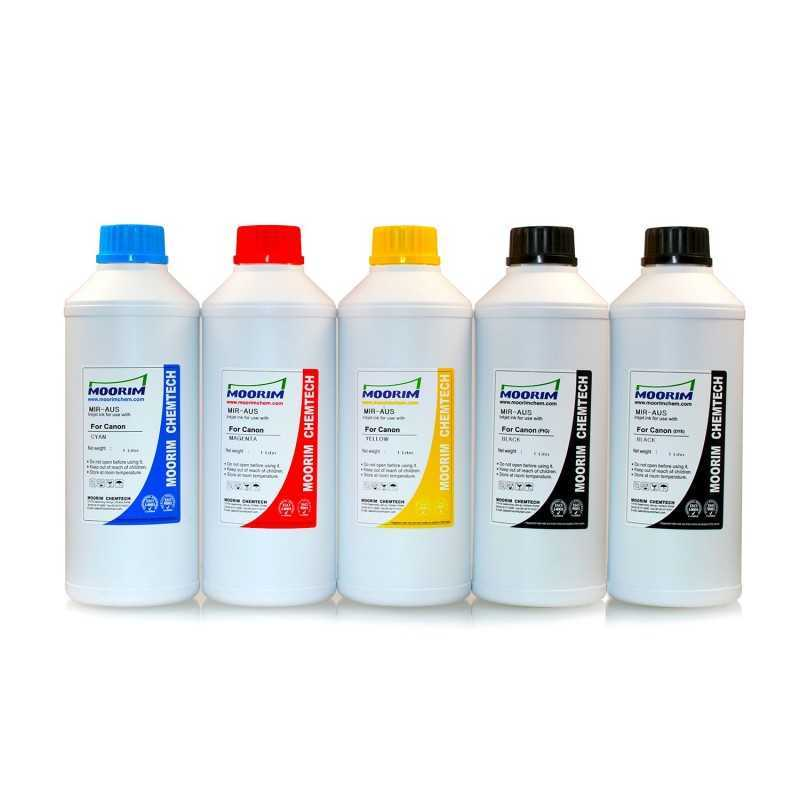 1 Litre 5 colours dye/pigment ink for Canon 650-651