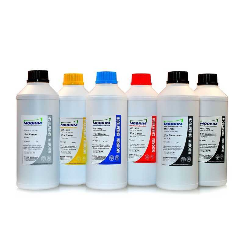 1 Litre 6 colours dye/pigment ink for Canon CLI-521
