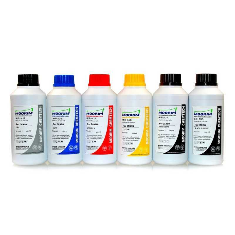 500 ml 6 colours dye/pigment ink for Canon CLI-526