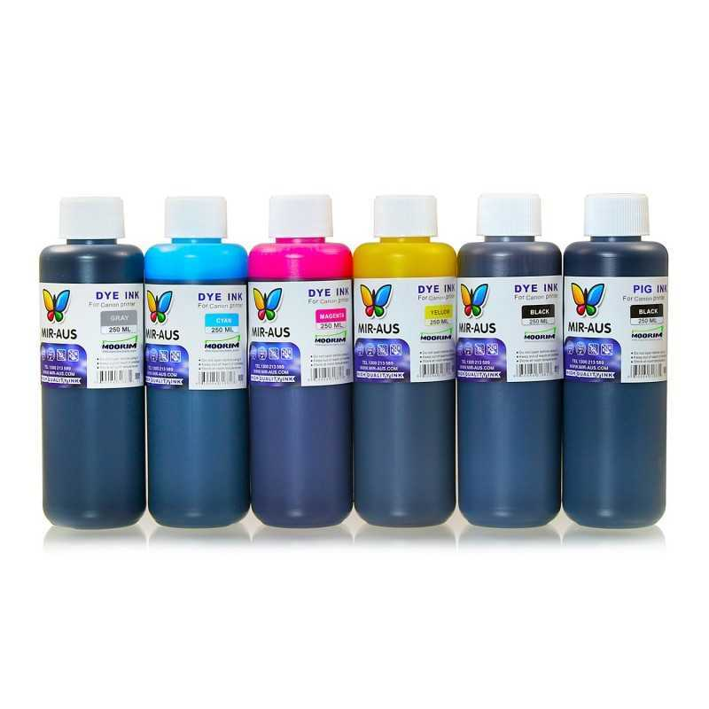 250 ml 6 colours dye/pigment ink for Canon 650-651