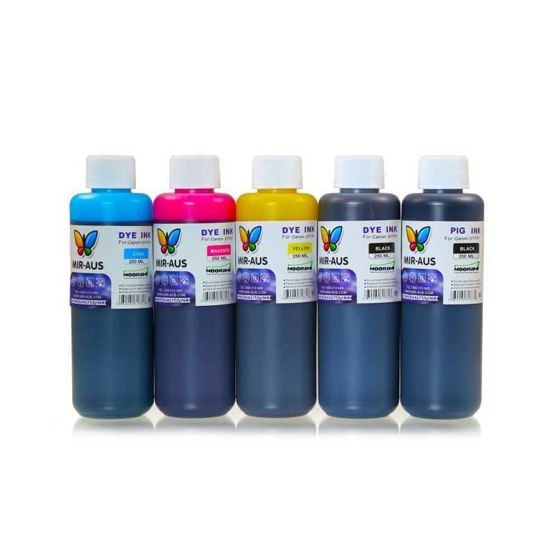 250 ml 5 colours dye/pigment ink for Canon 650-651