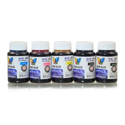 120 ml 5 colours dye/pigment ink for Canon 650-651