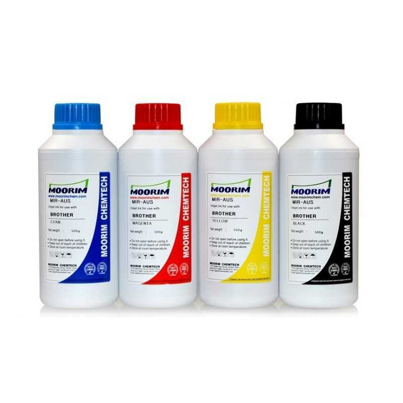 4 x 500 ml Refill ink for Brother printers