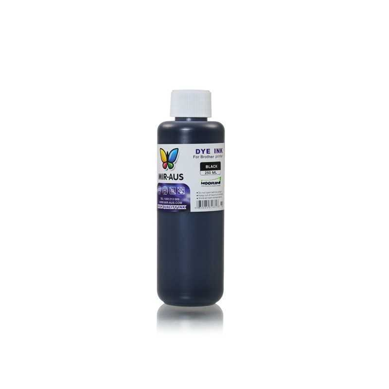 Black refillable dye ink 250ml for Brother printers
