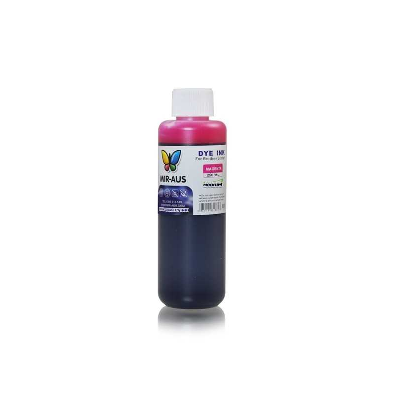 Magenta refillable dye ink 250ml for Brother printers