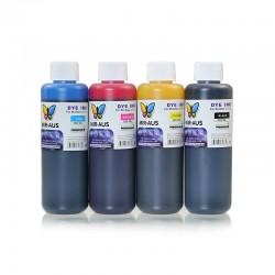 CMYK-Genopfyldelige farvestof blæk 250ml til Brother printere