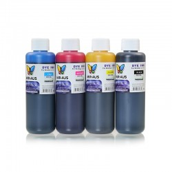 Encre à colorant rechargeable CMJN 250ml pour imprimantes Brother