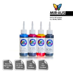 100 ml 4 Colours dye ink for HP printers