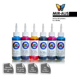100 ml 6 Colours dye ink for HP printers