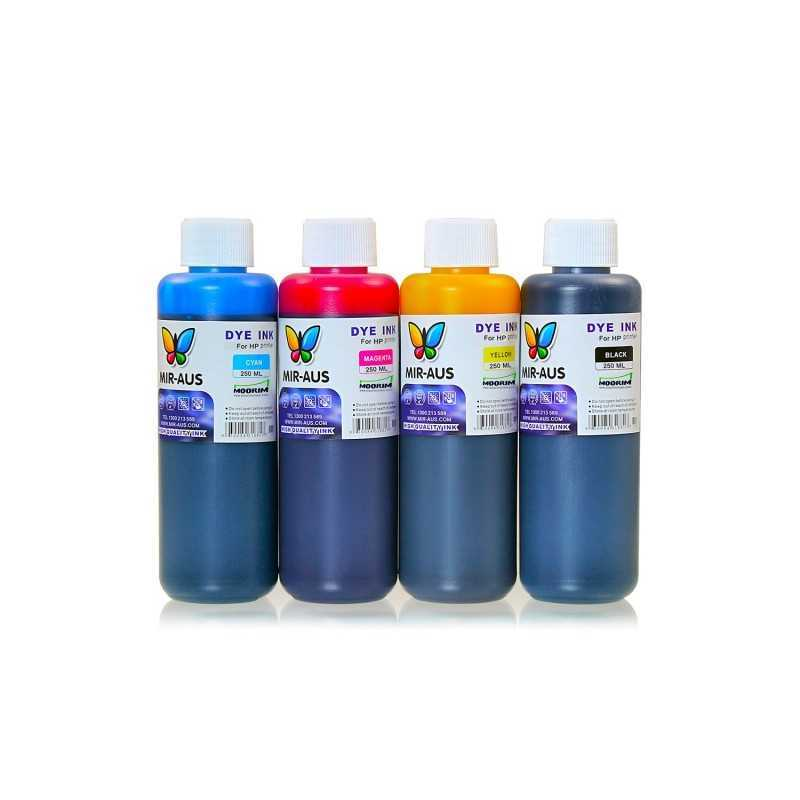 250 ml 4 Colours dye ink for HP printers