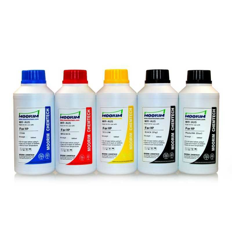 500 ml 5 Colours dye/pigment ink for HP printers