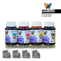 120 ml 4 Colours dye/pigment ink for HP printers