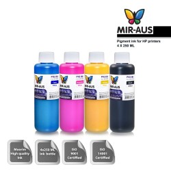 250 ml 4 Colours pigment ink for HP printers