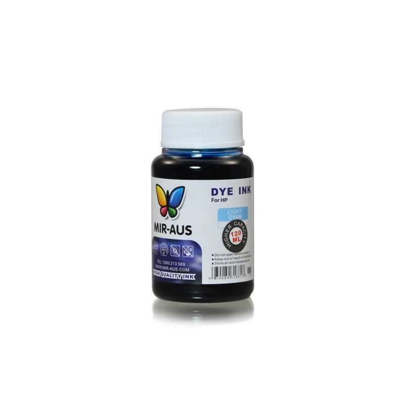 120 ml Light cyan dye ink for HP printers