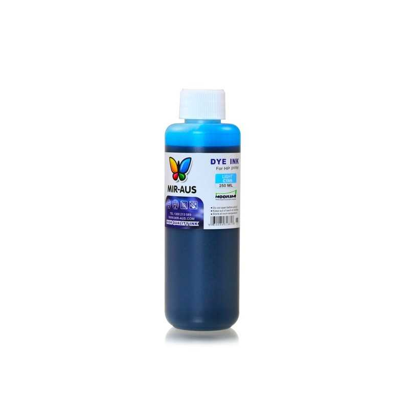 250 ml Light cyan dye ink for HP printers