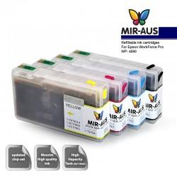 Färben Sie nachfüllbare Tintenpatronen für Epson WorkForce Pro WP-4590