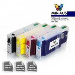 Refillable pigment ink cartridges for Epson WorkForce Pro WP-4090
