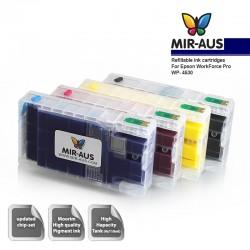 Genopfyldelige blækpatroner til Epson arbejdsstyrke Pro WP-4530