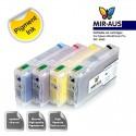 Cartuchos de tinta recargables para Epson WorkForce Pro WP-4540