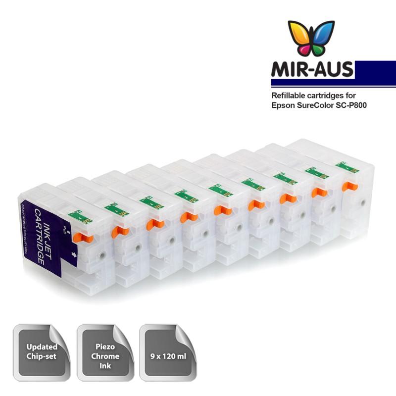 Refillable cartridges for Epson SureColor SC-P800