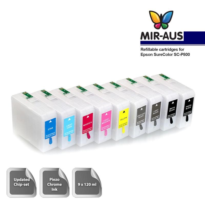 Refillable Cartridges For Epson Surecolor Sc P800