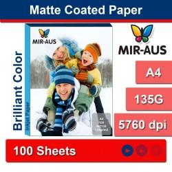 A4 135 G Matte Coated Inkjet papir