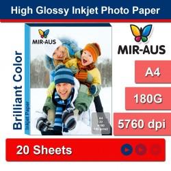 A4 180g papel Inkjet Photo alto brilhante