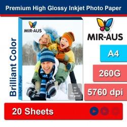 A4 260g High Glossy Inkjet papel fotográfico Premium