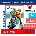 A4 240 G Premium hög glättat fotopapper för bläckstråleskrivare