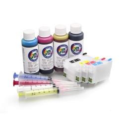 Påfyllningsbara patroner lämplig Epson WorkForce WF-3640 pigment