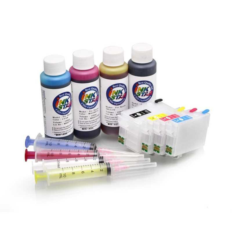 Nachfüllbare Patronen geeignet Epson WorkForce WF-3640 pigment