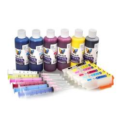 Cartuchos de tinta recargables de pigmento para Epson expresión foto XP-850
