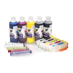 Pigment refillable ink cartridges for Epson Expression Photo XP-600 600