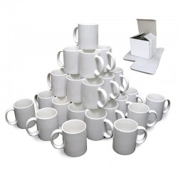 Weiße Keramiktasse