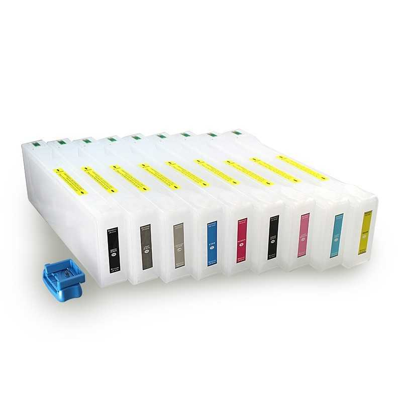 Refillable ink cartridges for Epson 7890 9890