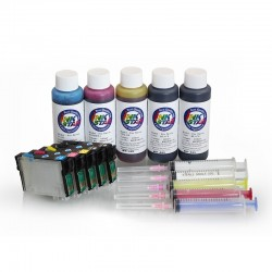 Refillable ink cartridge for Epson C110