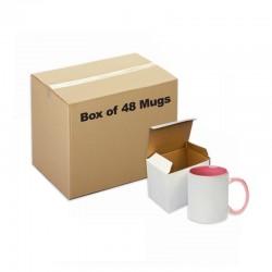 Céramique Mug intérieur poignée rouge 48 pièces