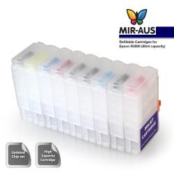 Uso de cartucho de tinta recarregáveis para EPSON R3000
