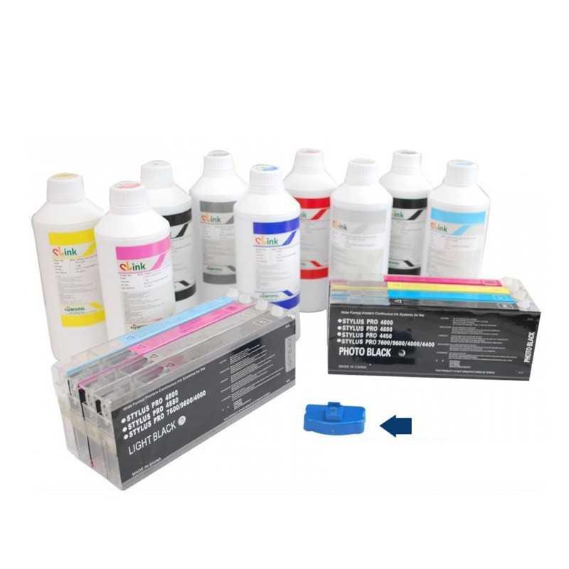 Ultra encre pour les imprimantes de Format large commande 1set + 8 x 1 litre