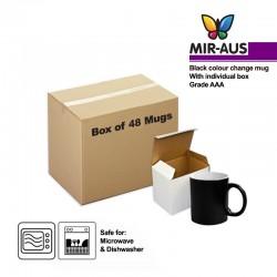 Sublimation Black Colour changing mug with gift box