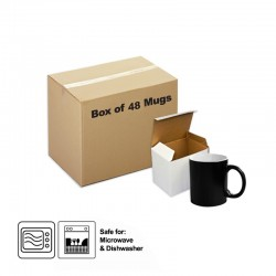 Sublimation Black Colour changing mug with gift box