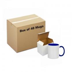 Ceramic Mug Inner Handle Blue 48 pieces