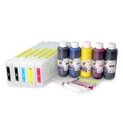 Cartouches d'encre rechargeables pour Epson 9700 de 7700 7710 9710