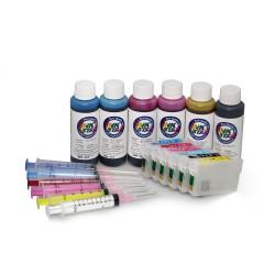 Påfyllningsbara patroner lämplig Epson Expression Home XP-245 pigment