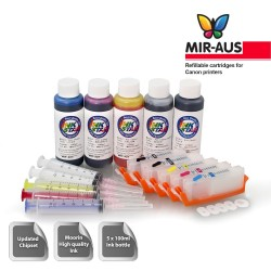 MIR-AUS - Refillable ink cartridges for Canon IP7260